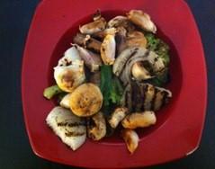 נשנושי ירקות על הגריל ללא שמן